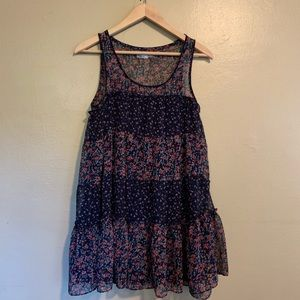 Urban Outfitters | Floral Tiered Tank Dress | S